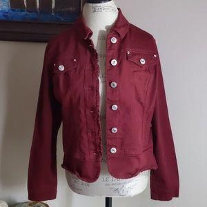 Baccini Denim Jacket W/Jeweled buttons.